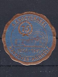Reklamevignette 75 Jahre Jubiläum A. Knoevenagel Hannover - 1991 geschlossen - <span itemprop=availableAtOrFrom>Graz, Österreich</span> - Rücknahmen akzeptiert - Graz, Österreich