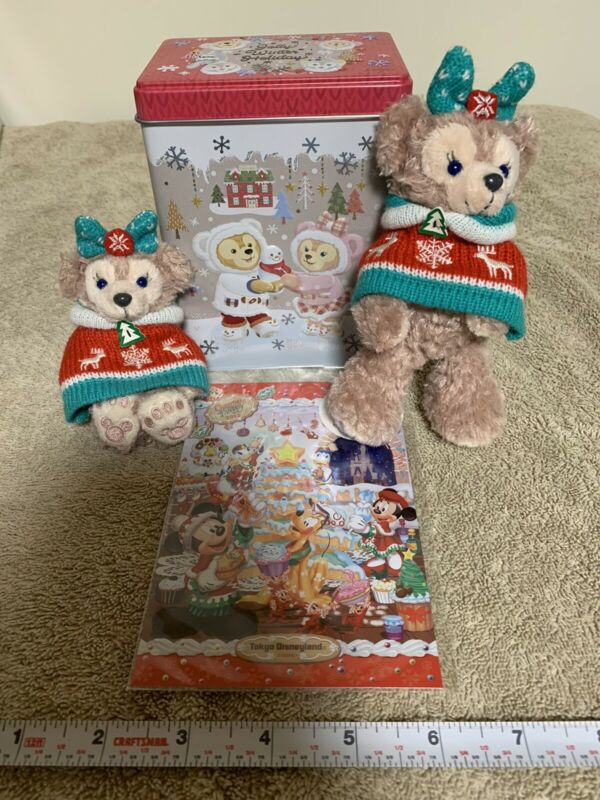 Tokyo Disney Sea Souvenir Lot Duffy Shelly May Tin PLUSH Gelatoni Christmas ++