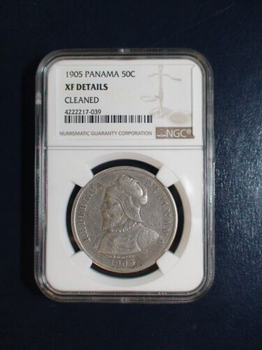 1905 PANAMA FIFTY CENTESIMOS NGC XF Details 50C Coin PRICED TO SELL QUICKLY!