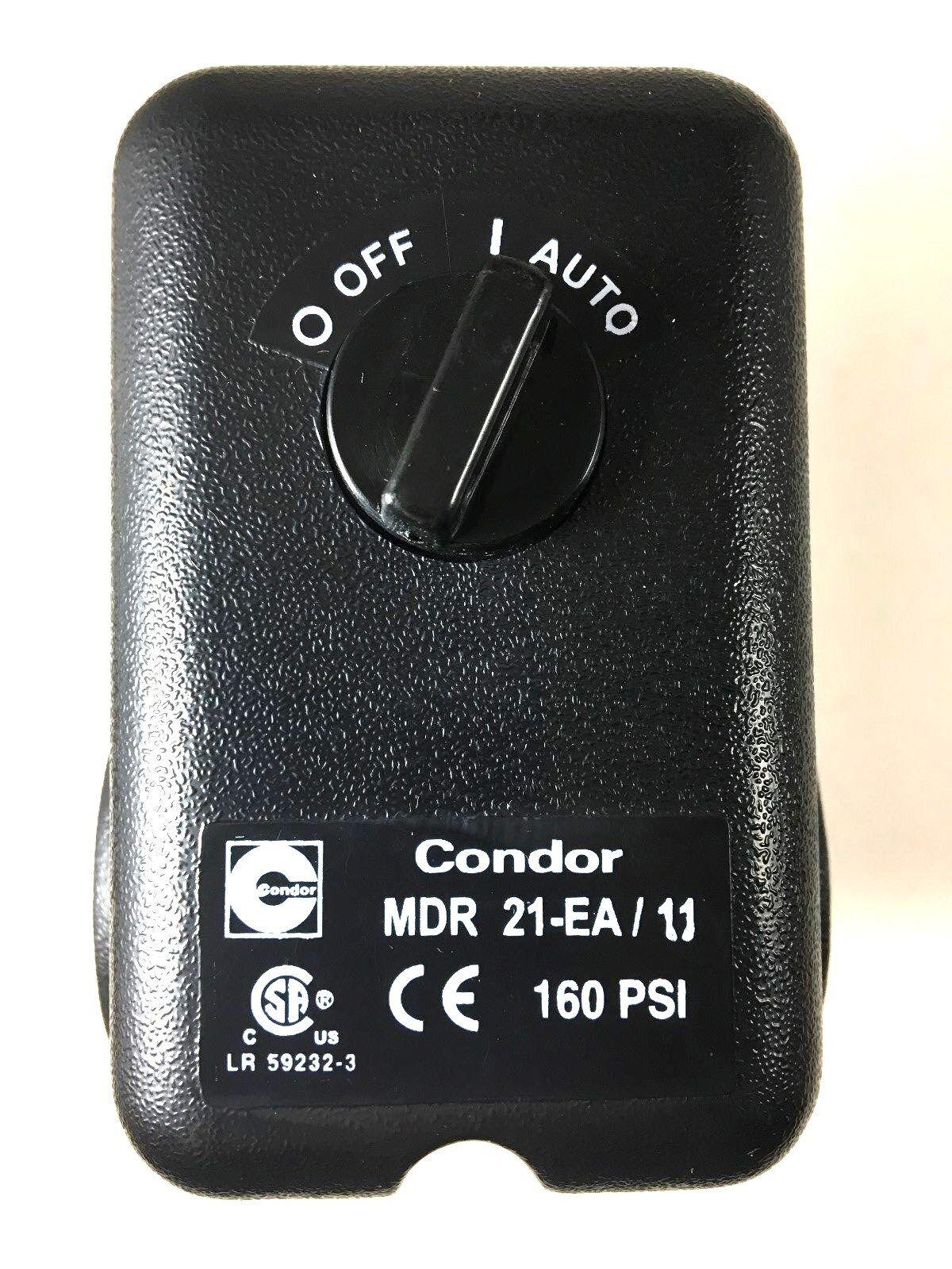 Mdr21 Ea 11 Condor Pressure Switch 4 Port W Unloader Amp On