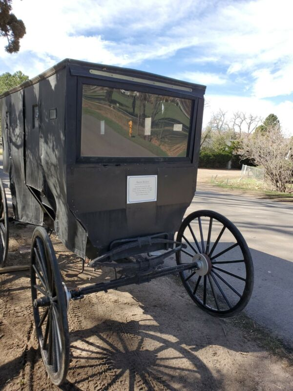 Authentic Amish Carriage /  Buggy Black, Foot Brake Amish Horse Drawn Carriage