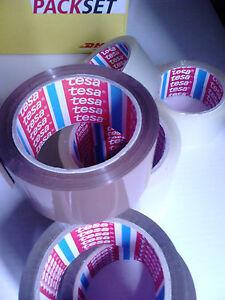 15 x Packband braun TESA tesapack® PAKETBAND brown 50mm 66mwie 4124 4024 chamois