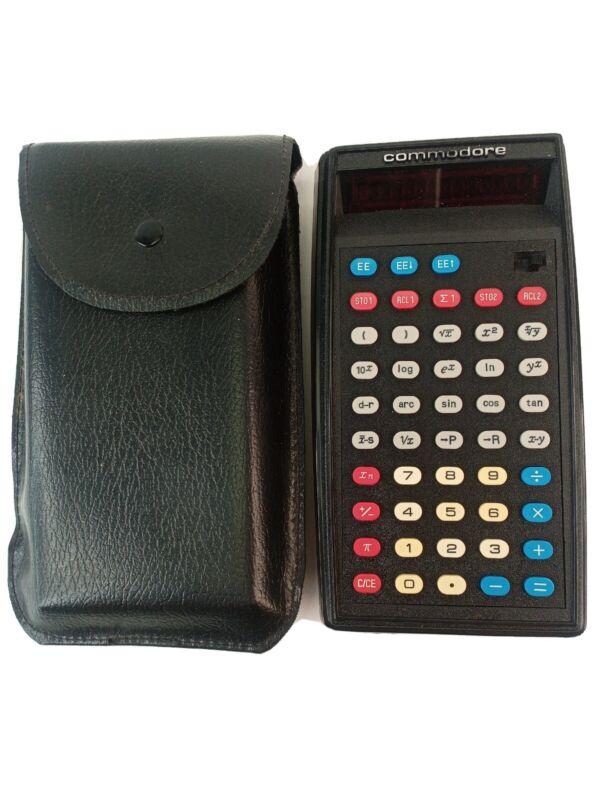 Rare Vtg COMMODORE SR4120D Calculator Made in England w/ Orginal Case Mint!
