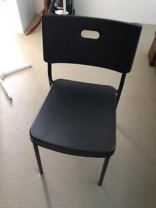 2 ikea black chairs Ashby Wanneroo Area Preview