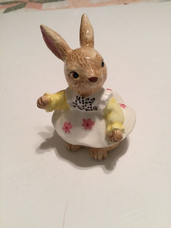 """Lefton Ceramic Bunny """"Miss Jackie"""" Collection Dressed"""