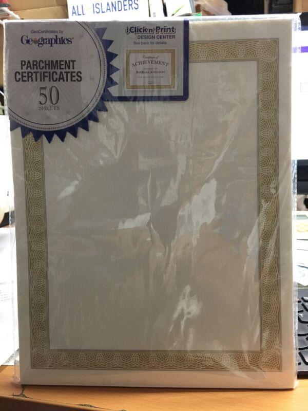 Geographics Parchment Certificates # 21015 Diplomat