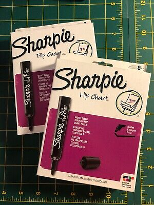 Two Boxes Of Sharpie Flip Chart Markers Bullet Tip Assorted Colors 22478