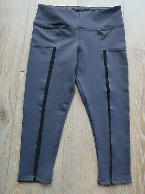 NEW LULULEMON UK 8/10 Running Tight/Gym Legging Crop/Capri Dark Grey £90