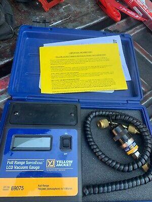 Yellow Jacket Full Range Superevac Lcd Vacuum Gauge 69075