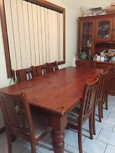8 piece dining table and matching Hutch Towradgi Wollongong Area Preview