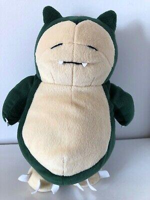 """Nintendo Pokemon Green Snorlax 11"""" Plush Toy 1998 Game Freak"""