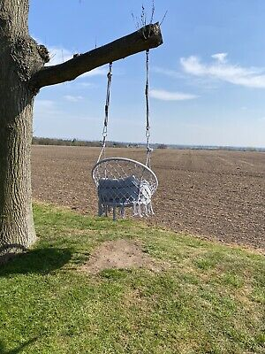 Hanging Garden Swing Seat With Cushion - Brand New In Box