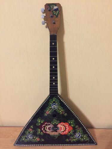Balalayka Folk Instrument Pianting Paint 3 Strings USSR Soviet Balalaika Vintage