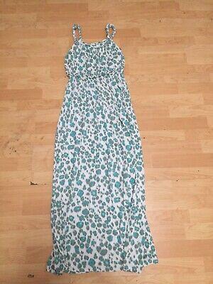 Ann Taylor LOFT white Green Animal Print Maxi Dress XS Petites Sleeveless E25