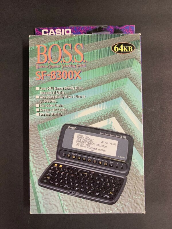 Vtg Casio BOSS SF-8300 64KB Pocket Computer Business Organizer Scheduling System