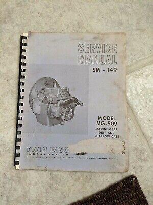 Twin Disc Marine Transmission Mg-509 Service Manual Sm-149