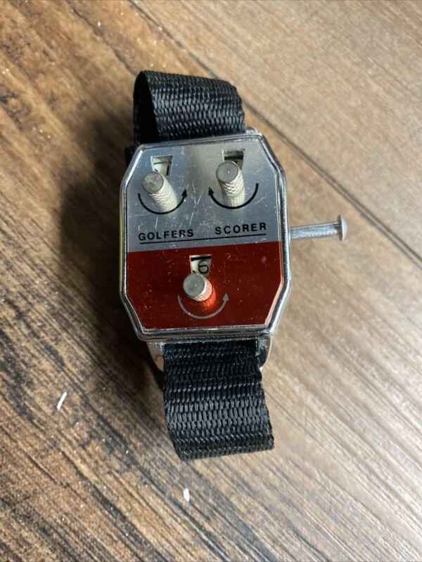 Vintage Golfers Scorer Wrist Score Keeper Stroke Counter Golf Watch Wristband
