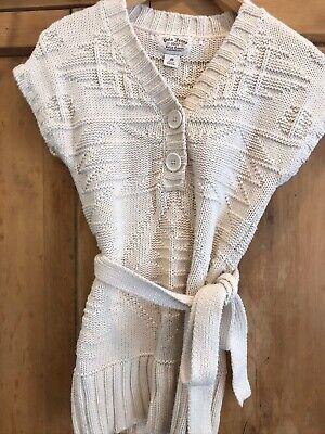 Ralph Lauren Chunky Knit Tank With Belt Wool Jumper Vintage Aran M 10 Boho Luxe