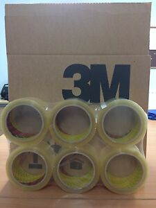 6 ROLLS 3M SCOTCH CLEAR PACKAGING / PACKING TAPE 48MM X 66M FREE 24HR DELIVERY
