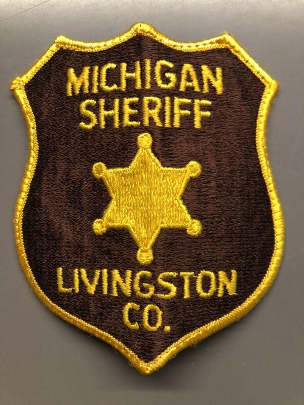 Livingston County Michigan Sheriff Patch