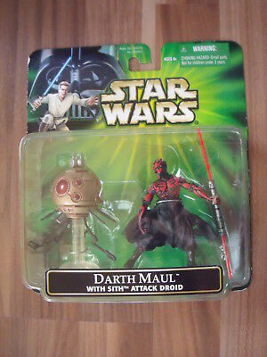 Star Wars POTJ: Darth Maul with Sith Attack Droid Deluxe Figures (green US Card)