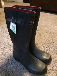 Black rubber boots. Brand new