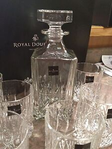 ROYAL DOULTON CRYSTAL DECANTER  SET BRAND NEW!!
