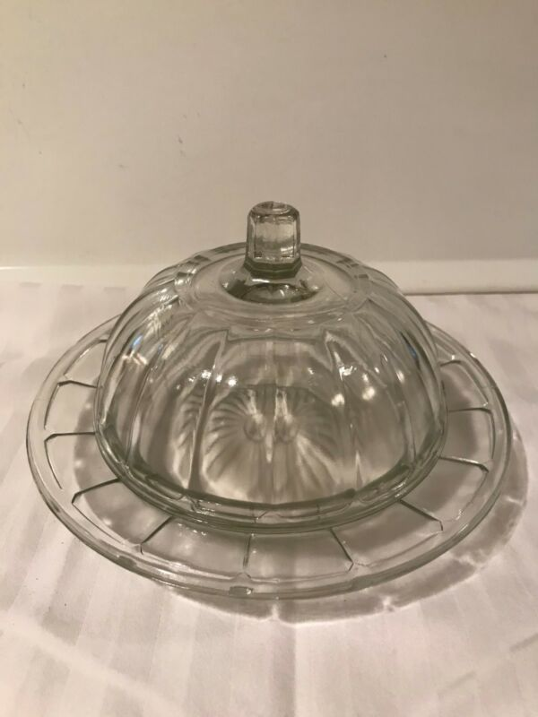 Vintage Anchor Hocking Butter Dish with Dome Lid