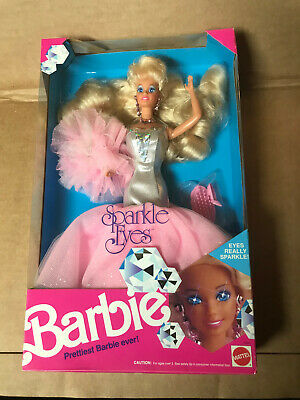 1991 SPARKLE EYES BARBIE  DOLL- Mattel #2482 NEW IN BOX