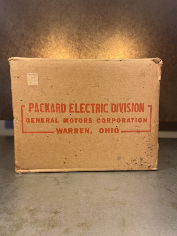 Packard Electric Motor Box 1950 General Electric Sears Roebuck S6963 1/2 HP OHIO