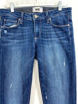 Paige Skyline Ankle Peg - Women's Size 27 Stretchy Skinny Medium/Dark Wash Jeans