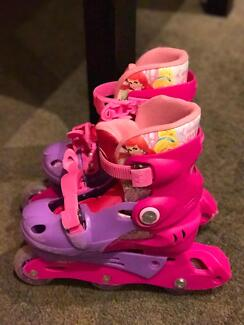 Training in-line skate - princess design for 4-6 year old
