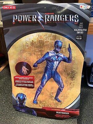 Power Ranger Full Costume (POWER RANGERS Blue Ranger Adult Full Bodysuit Costume XXL 50-52 Rare Brand New)