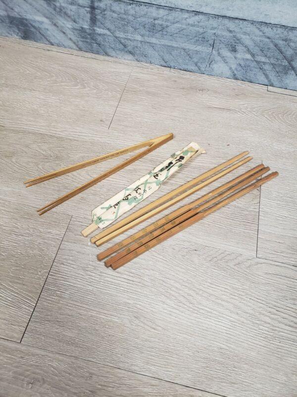 Lot Of Vtg Chop Sticks A9