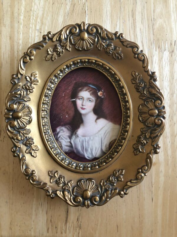 Cameo Creation Cecile Volage By J.B. Greuze Victorian Girl Picture and Frame