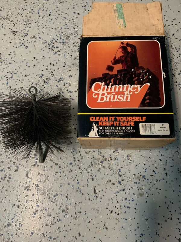 """Schaefer Chimney Brush  8"""" Round Never Used With Original Box Free Shipping"""