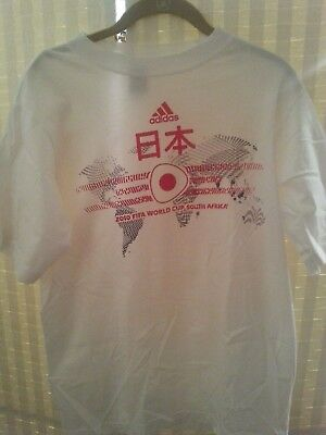 Soccer 2010 World Cup in South Africa Team Japan Shirt Small ADIDAS image
