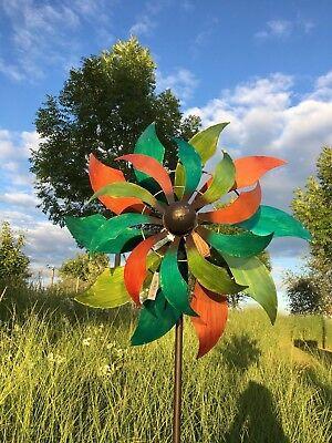 XXL Windrad TIUZ ArtFerro Windspiel Gartenstecker Gartendeko Metall  * H230  Ø69