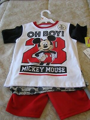 Childrens Clothing  DISNEY Jr MICKEY MOUSE 3 Piece Shorts Set NEW w/Tags Size 2T