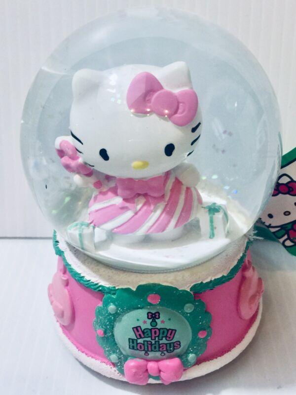 New Hello Kitty Christmas Snow Globe Musical Happy Holidays Figure Sanrio RUZ