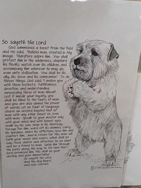 Norfolk Terrier Poem Print By Van Loan 11x17