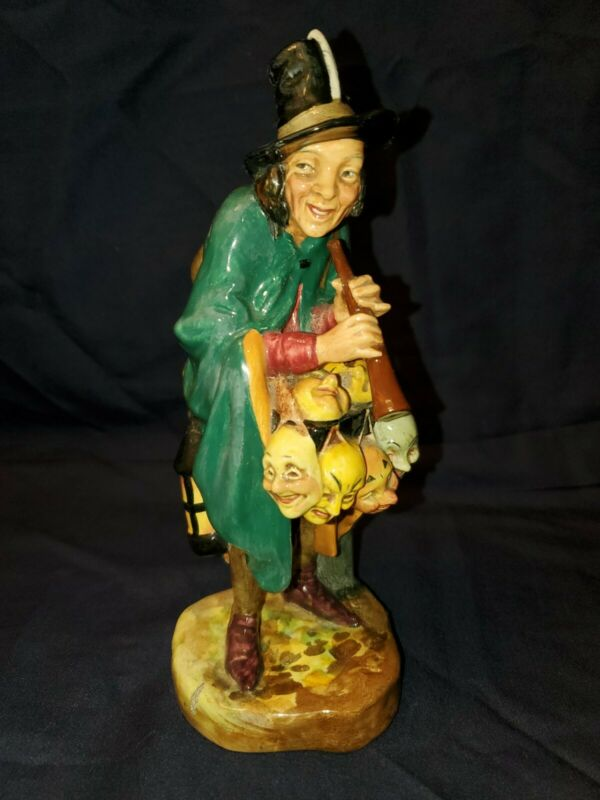 ROYAL DOULTON FIGURINE THE MASK SELLER HN2103 Mint Conditon 1952 Free shipping