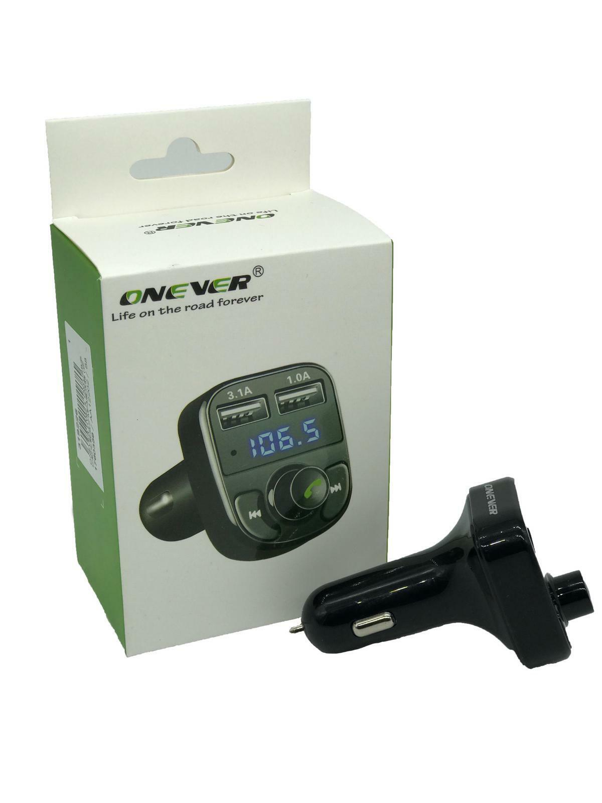 Bluetooth Car Kit FM Transmitter MP3 Player With LED Dual US