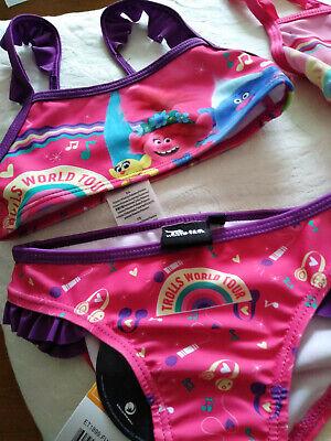 Mädchen Bikini 6 Jahre Trolls pink