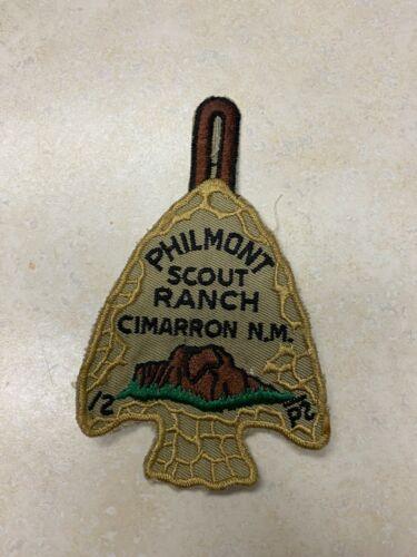 Vintage Philmont Scout Ranch Cloth Back Arrowhead