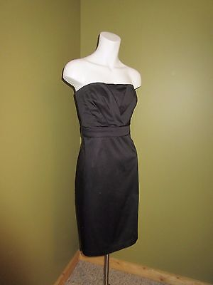 - EXC! NEW YORK & CO LBD Little Black DRESS Convertible Strapless Cotton M 10