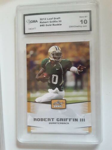 2012 Leaf Draft Robert Griffin III 40 Gold Rookie GMA 10 MiNT Condition  - $5.99