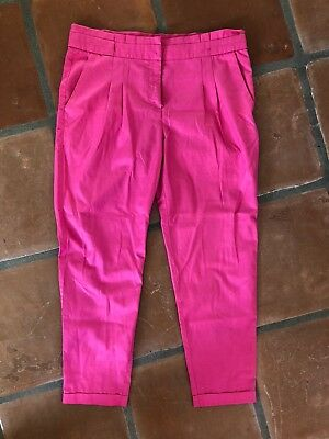H&M Size 10 Womens Hot Pink Tapered Pants Trousers BEAUTIFUL