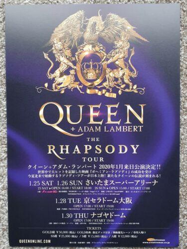 Queen + Adam Lambert - The Rhapsody Tour 2020 Japan Flyer -