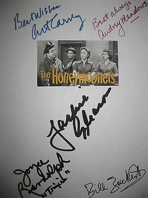 The Honeymooners Signed TV Script X5 Jackie Gleason Art Carney Audrey Meadows RP
